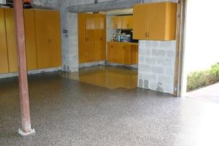 Garage Doctors Easy Clean Flooring in Florida Granite-and-Terazzo-Look