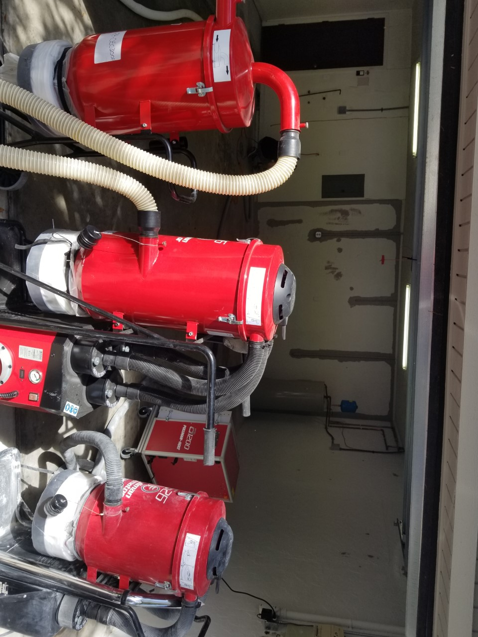Garage Doctors Easy Clean Flooring in Florida shot-blasting-machine